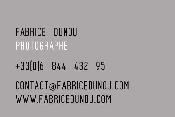 Carte De Visite Fabrice Dunou Photographe Studio